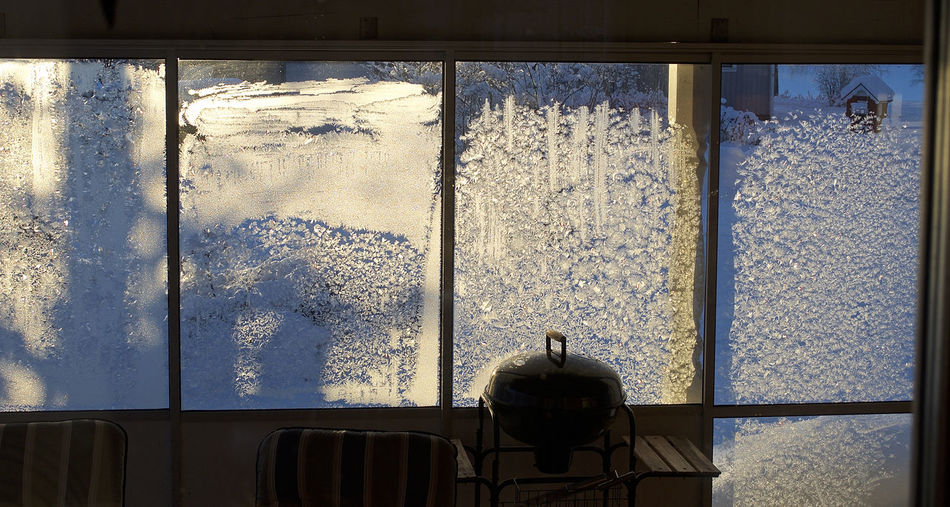 Frost Christmas Background Cold Temperature Day Frozen Window Indoors  No People Window