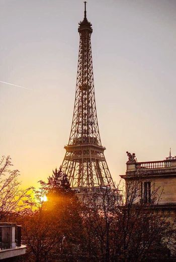 Tower Cultures Travel Destinations City History Sunset Travel Tourism Sky Monument Tree No People Outdoors Vacations Cityscape Architecture Day Paris