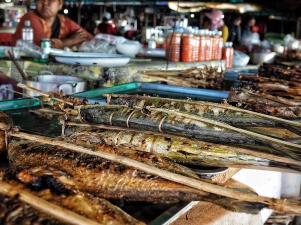 Grilled fish at the crab market, Kep, Cambodia Cambodian Life Cambodian Street Food Street Food Food Market Market Crab Market Cambodia Kep Food Seafood Food And Drink Retail  Market For Sale Market Stall Freshness Healthy Eating Close-up