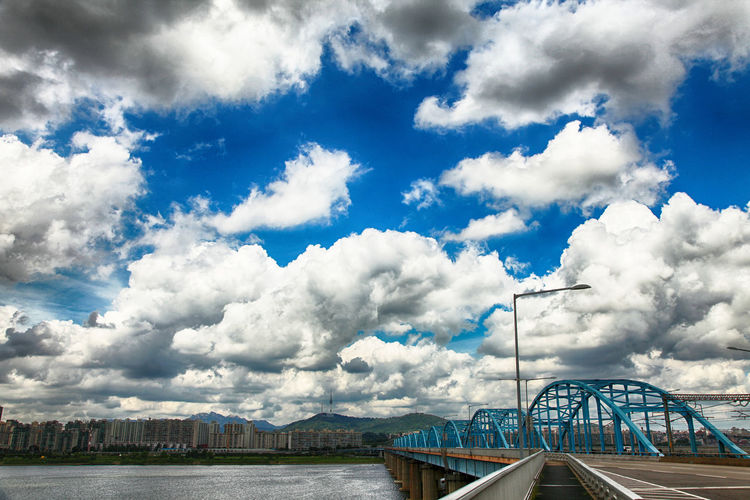 Beauty In Nature Blue Bridge - Man Made Structure City Cityscape Cloud - Sky Day Landscape Nature No People Outdoors Scenics Seoul,Korea Sky Travel Travel Destinations Water