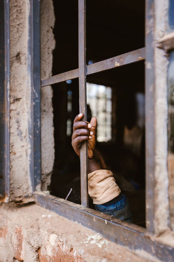 Child Children Day Human Hand Indoors  One Person People Prison Prison Bars