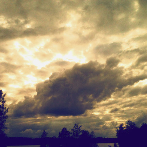 Stormy clouds gathering. Beauty In Nature Cloud - Sky Dramatic Sky Nature No People Sky Storm Tranquility Tree