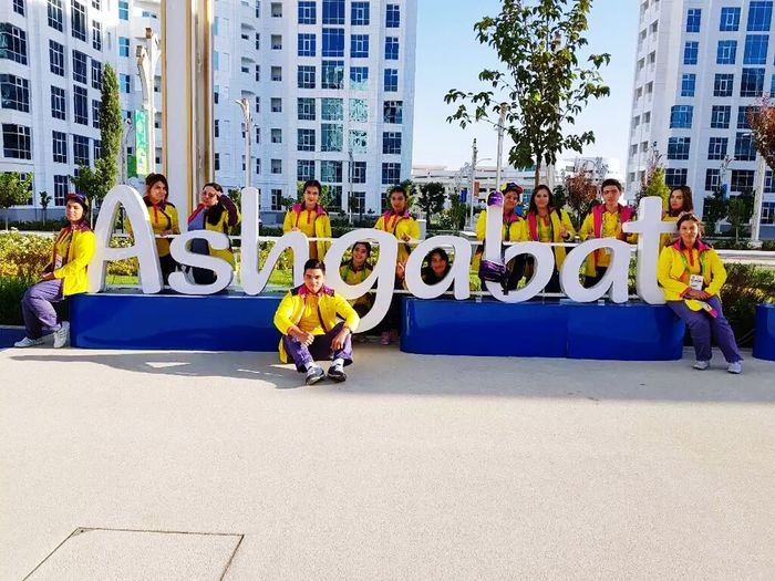 City Ashgabat-Aziada2017 I and my friends
