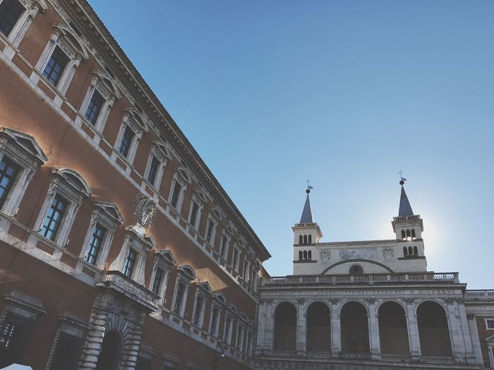 Archbasilica Of St. John Lateran Archbasilica Basilica Church Rome Building Exterior Architecture Built Structure Clear Sky Low Angle View Outdoors City Day Travel Destinations No People Sky