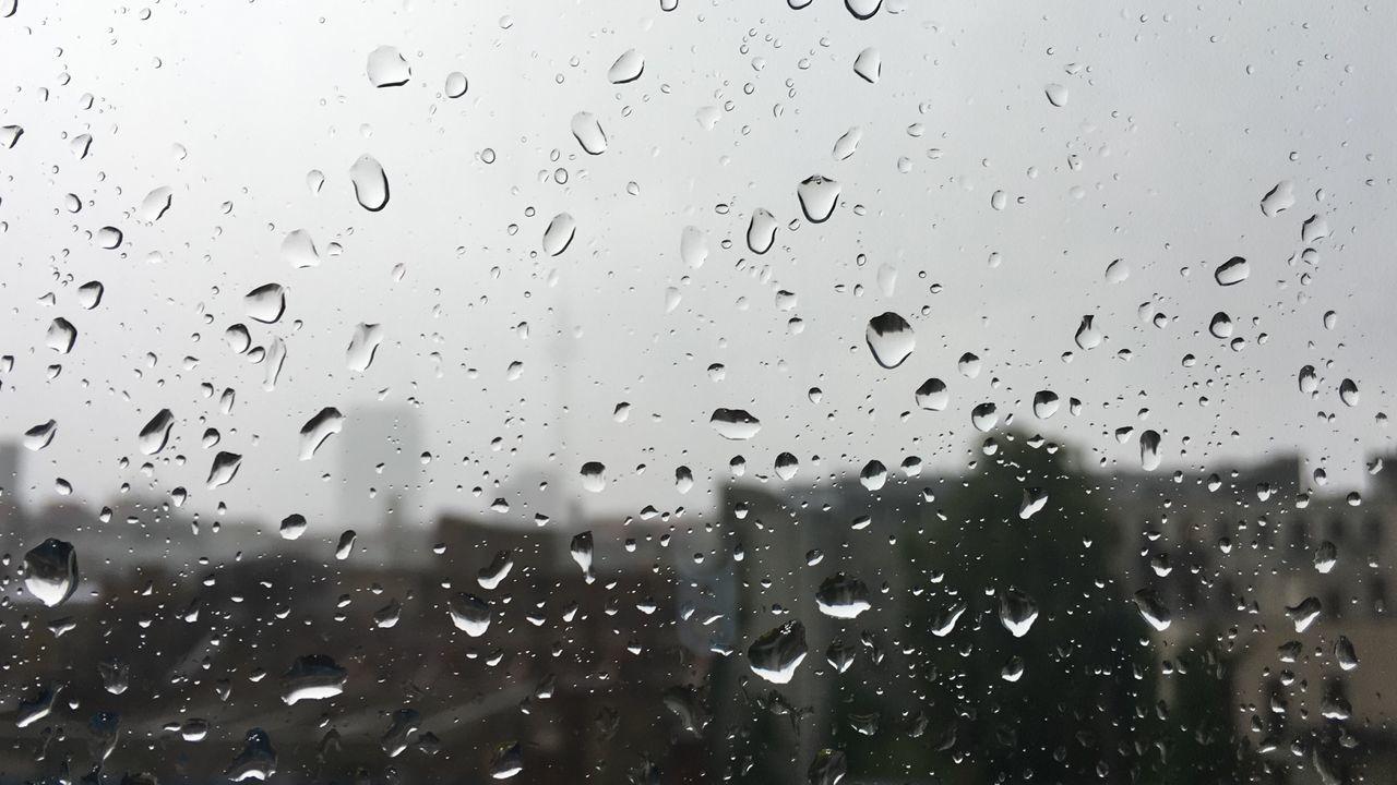 drop, window, wet, rain, water, no people, raindrop, rainy season, weather, backgrounds, full frame, indoors, close-up, nature, day, sky