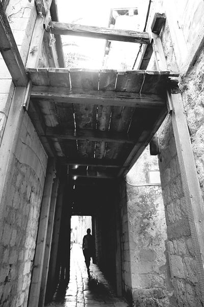 Some Scaffolding in an Alley in Old Town, Dubrovnik. Shades Of Grey Bw_friday_challenge B&w Photography Streetphoto_bw Streetphotography B&w Street Photography Long Goodbye Welcome To Black