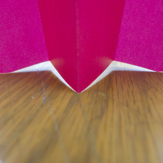 Origami Close Up Close-up Folded Paper Hot Pink Indoors  No People Origami Paper Pink Color Table Wood - Material