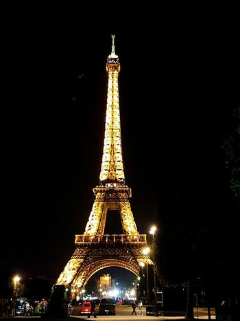 Paris At Night Eiffle Tower Tower Travel Destinations