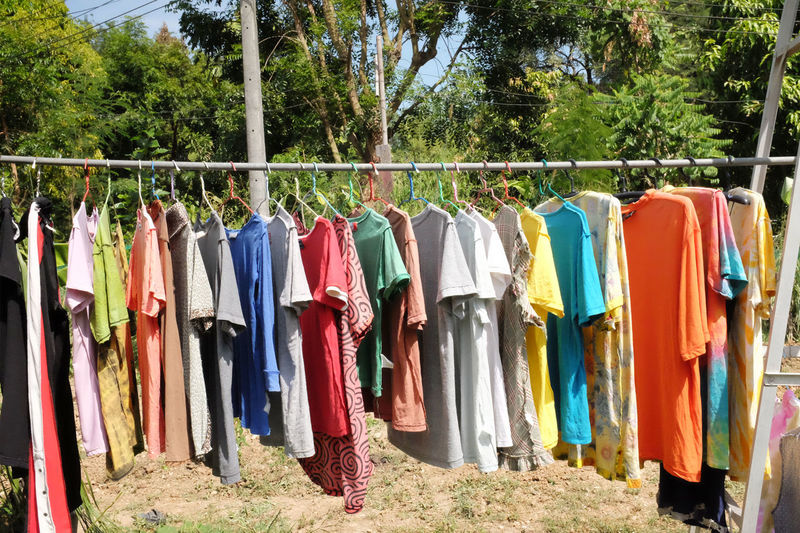 Dry clothes in