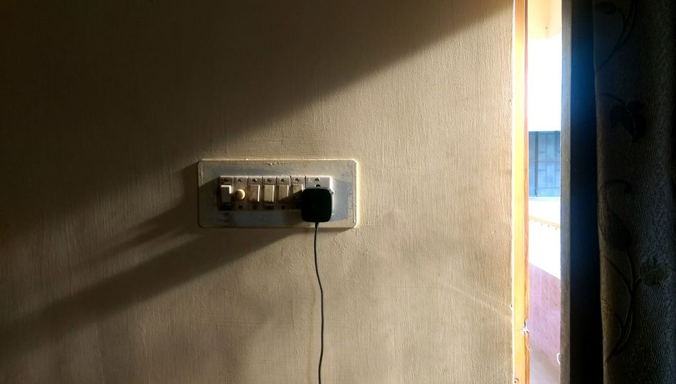 Indoors  Day This Week On Eyeem Light And Shadow Light Rays Penetrating Door Socket Electronic Devices Art Is Everywhere