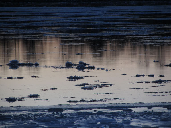 Floating ice. Nature No People Outdoors Day Sunset River Floating On Water Floating Ice Ice Water Finland