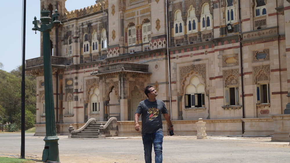 Architecture Building Exterior Built Structure Casual Clothing Day Full Length Gujarat India Lakshmivilaspalace Leisure Activity Lifestyles One Person Outdoors Palace PalacesOfIndia People Real People SonyAlpha58 Standing Vadodra Young Adult Young Men