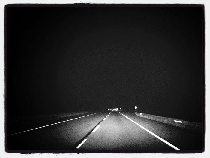 Blackandwhite Highway Empty