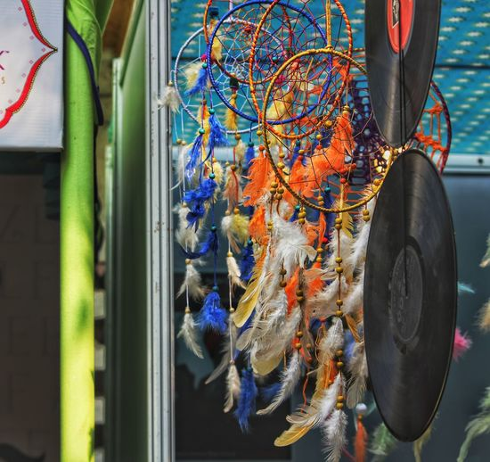 Close-Up Of Colorful Dreamcatcher