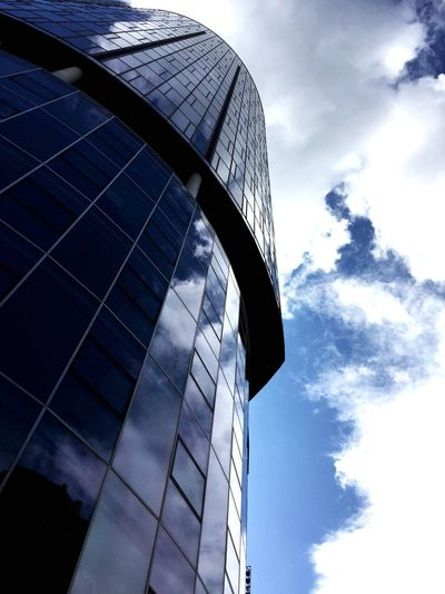 Cologne Cologne Sky Low Angle View Cloud - Sky Architecture Built Structure Building Exterior Nature No People Tower City Day Outdoors Reflection Office Building Exterior Building Travel Modern Tall - High Skyscraper Office