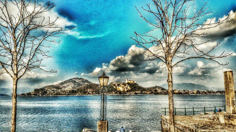 Arona Angera Lake View Lake Lake Maggiore ❤️ Panorama Point Of View Trees Castle Castle Of Angera Varese Novara
