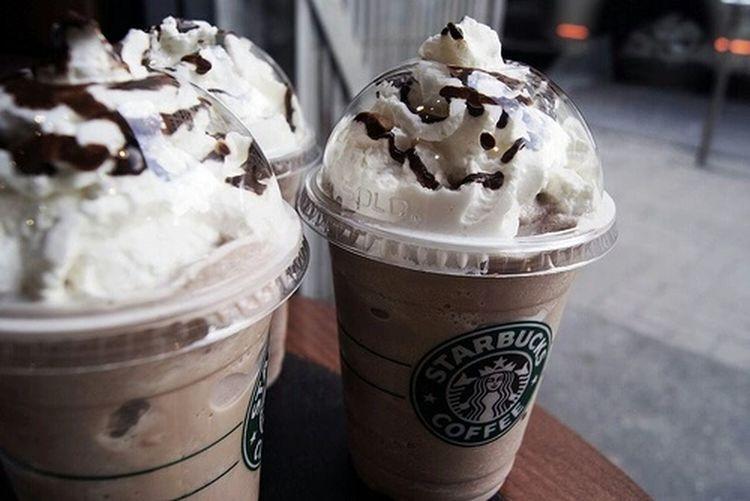 I love starbucks ❤ Starbucks Frappuccino Chocolate Drink Cream Cherry On The Cake Love Enjoying Life