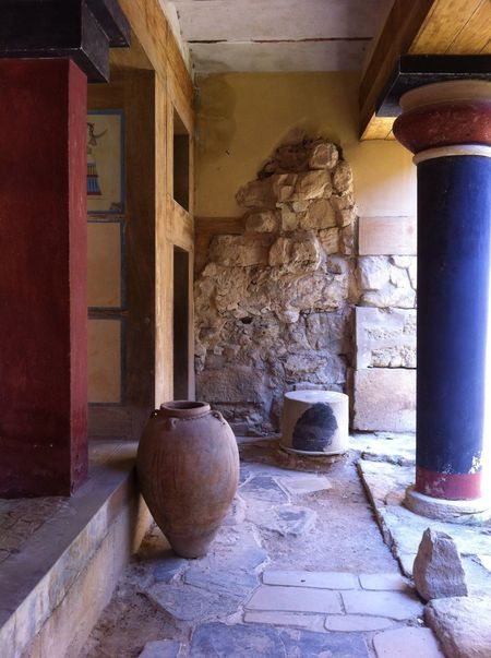 RePicture Travel Knossos Greece, Crete Stone Archeology Nofilter