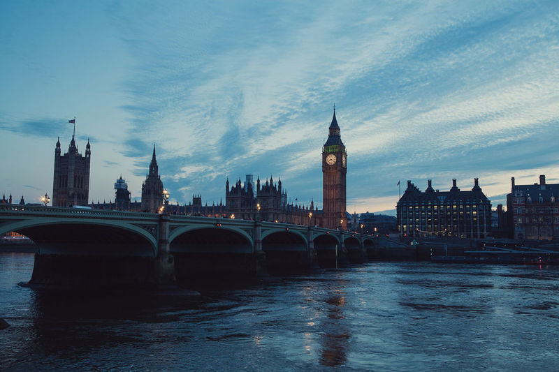 Big Ben Bridges London Architecture Bridge Bridge - Man Made Structure Building Exterior Built Structure City Cityscape Clock Tower Cloud - Sky Connection Day No People Outdoors River Sky Sunset Tower Travel Destinations Urban Skyline Water Waterfront