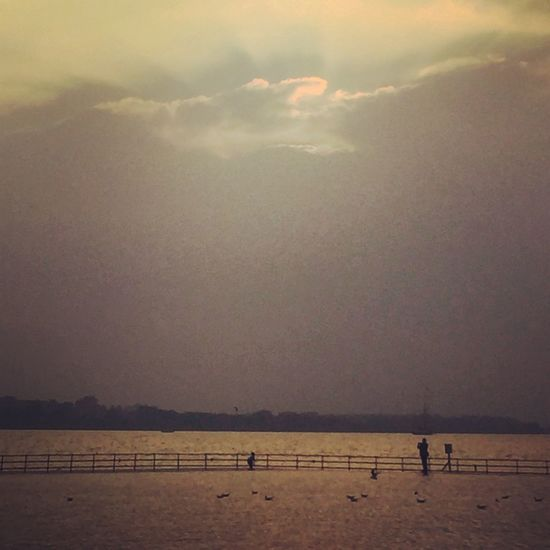 Sea Sunset Dusk Water Silhouette Beautiful EyeEm Best Shots Eye4photography  EyeEm