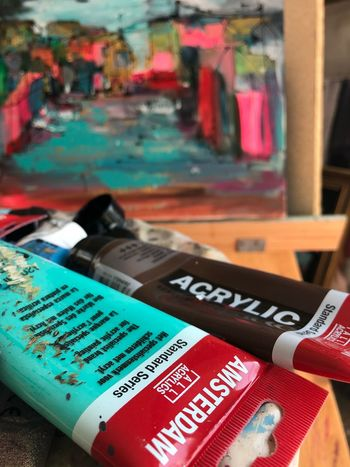 Art Text Western Script Focus On Foreground No People Communication Close-up Indoors  Table Still Life Red Choice Selective Focus Day Variation Collection Multi Colored