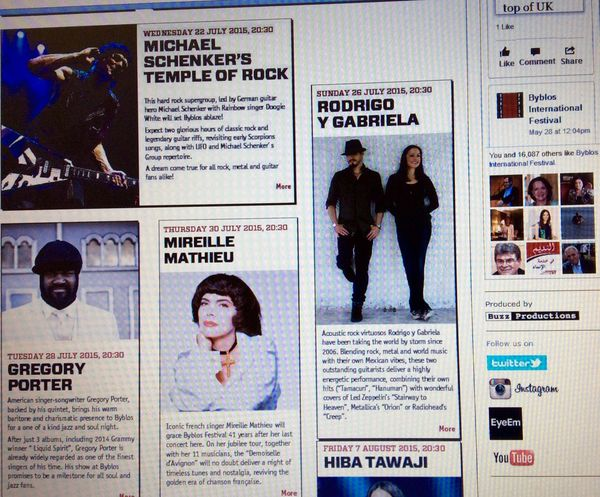 Follow Byblos International Festival On EyeEm John Legend Gregoryporter Michael Schenker Alt-J Mireille Mathieu The Script