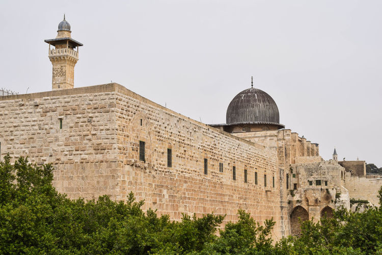 City Wall Alaqsamosque Ancient Civilization Architecture Building Built Structure History Holyland Israel Jerusalem Travel Destinations Western Wall