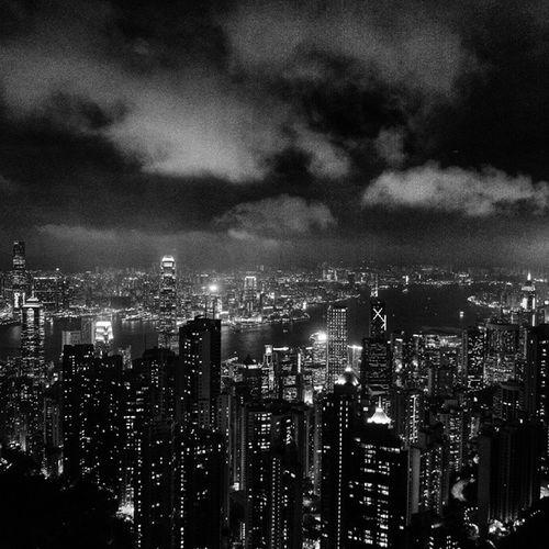 Cityscape Thepeak Skyterrace428 HongKong ex2f vsco vscocam snapseed bnw monochrome mono