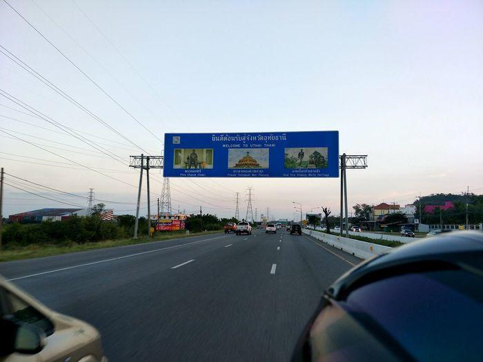 Car Road Traffic Road Sign Transportation Land Vehicle Sky
