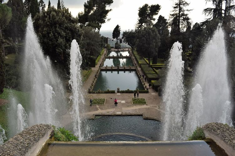 Architecture Built Structure Famous Place Flowing Flowing Water Fountain Lake Long Exposure Man Made Lake Motion Nature Splashing Spraying Tourism Travel Travel Destinations Tree Villa D'Este Water Waterfall
