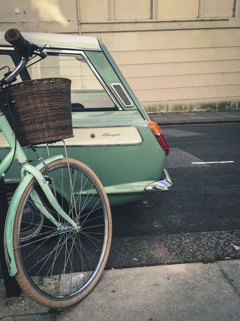 Matching Colours Pastel Bicycle Ford Cortina Vintage Brighton