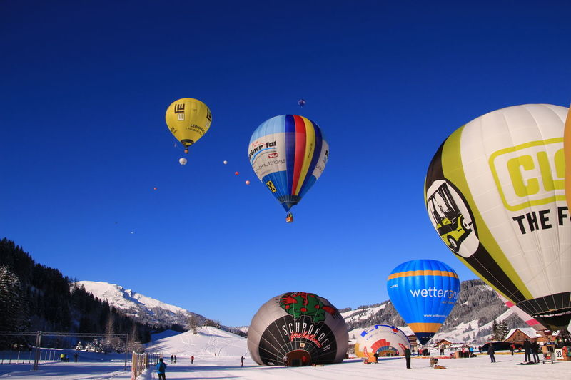 Fly away....😊😊 Hot Air Balloon Blue Travel Multi Colored Arts Culture And Entertainment Journey Ballooning Festival Outdoors Vacations Sport No People Day Sky Tannheimer Tal Ballonfestival Ballons