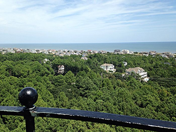 Looking northeast from on top of Currituck Beach Lighthouse. OBX14 Lighthouse From A Lighthouse