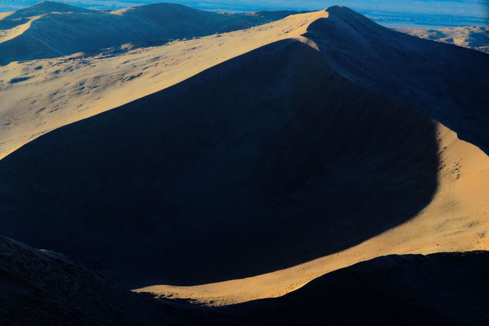 Flying in a chopper without doors is a bit chilly in the morning. Can you feel it? Dunes Namibia Landscape Sossusvlei Desert - Namibia Aerial View Early Morning Light And Shadow No People Sand Dune The Great Outdoors - 2018 EyeEm Awards