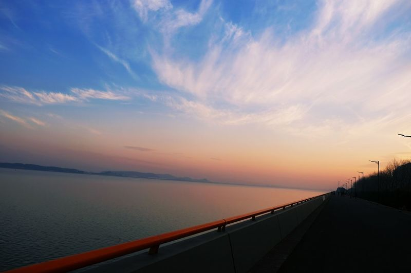 Qian Tang River in the evening, the sunset is beautiful Beauty In Nature Cloud - Sky Nature No People Outdoors Scenics Sky Sunset Water First Eyeem Photo
