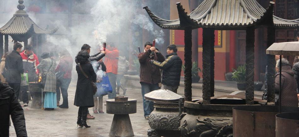 Shanghai Shanghai, China Chinese Prayer Sticks Real People Shanghailife Shanghai❤