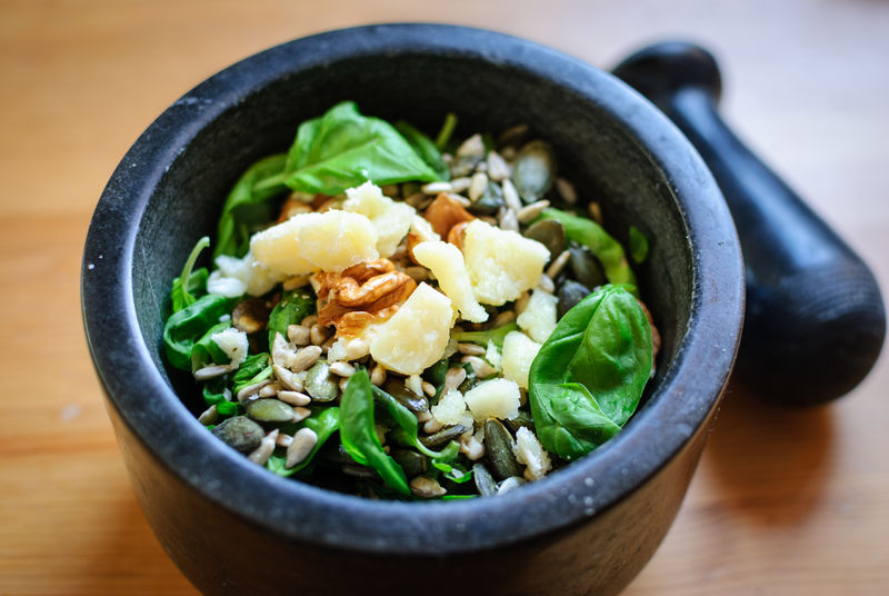 Basil Homemade Food Pesto Vegetarian Food Cheese Close-up Focus On Foreground Food Food And Drink Freshness Grana Padano Healthy Eating Italian Food Leaves Mortar And Pestle Parmesan Pumpkin Seeds Sunflower Seeds Vegetable Walnut Wellbeing Wood - Material