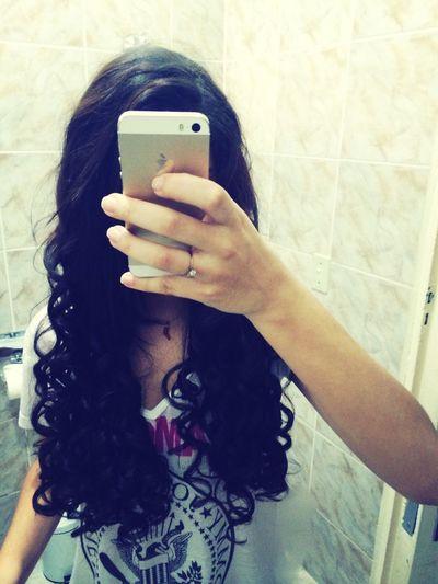 Curly Hair Me Girl Good Night
