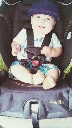 My Little Mac Miller[: MacMiller FlatBillBaby Bigboy HisBigCarseat #HeLooksSoLittle
