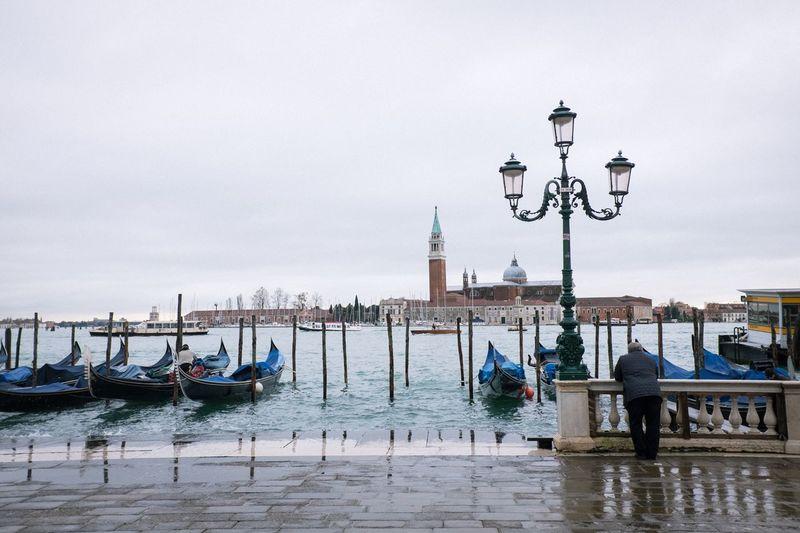 San giorgio maggiore on river against sky