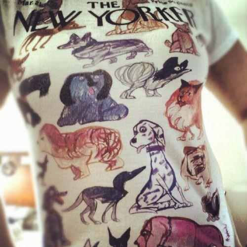 "Love my ""The New Yorker- All dogs"" tshirt!!!! Tshirt Thenewyorker Apparel Fashionlove dogsofinstagram love clothing"