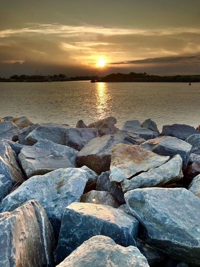 Water Sunset Sky Sea Scenics - Nature Tranquility Beauty In Nature