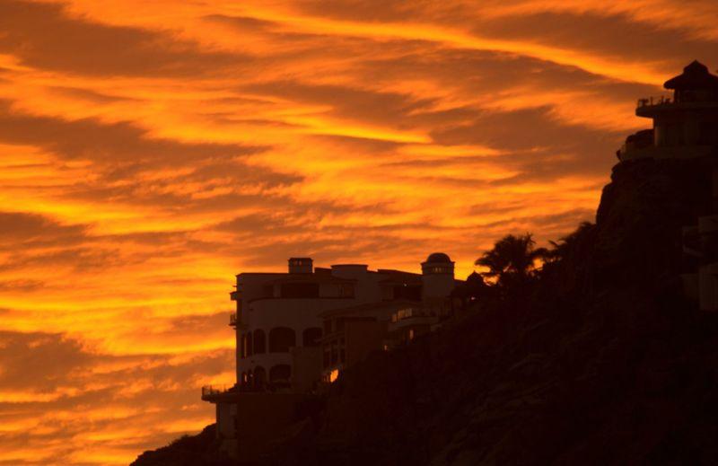 Cabo Beach Sea Ocean Sunset_collection Architecture Building Exterior Built Structure Cloud - Sky No People Orange Color Outdoors Sky Sunset