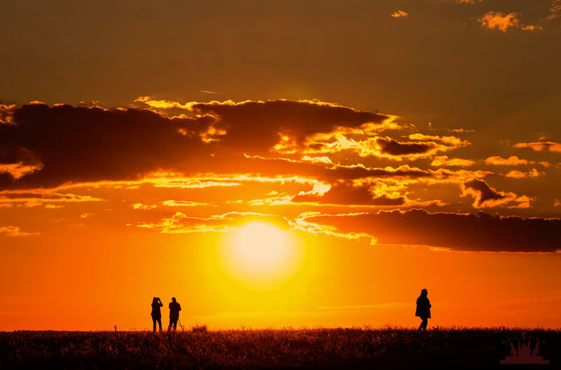 Silhouette of landscape during sunset