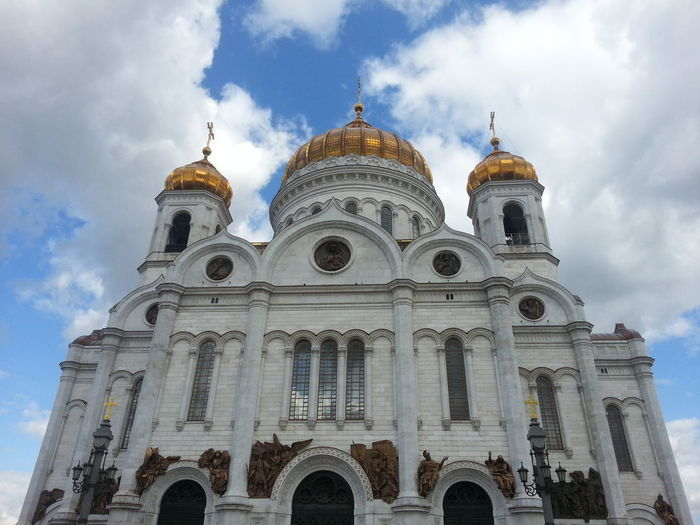 Low angle view of cathedral of christ the saviour