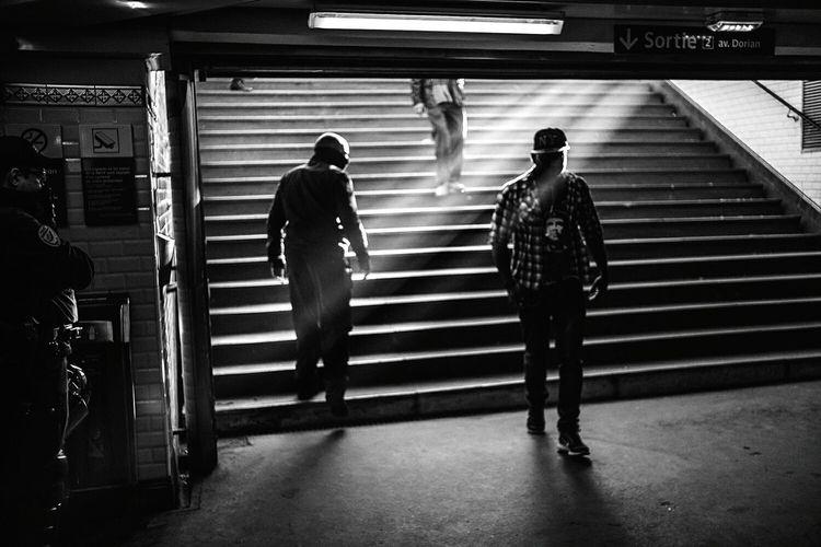 Men At Subway Station