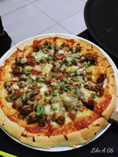 Pizza Sisig Sisigpizza #cellphonephotography #lgg6 Fast Food Italian Food Appetizer Gourmet Homemade Directly Above Vegetarian Food Cooked Savory Food