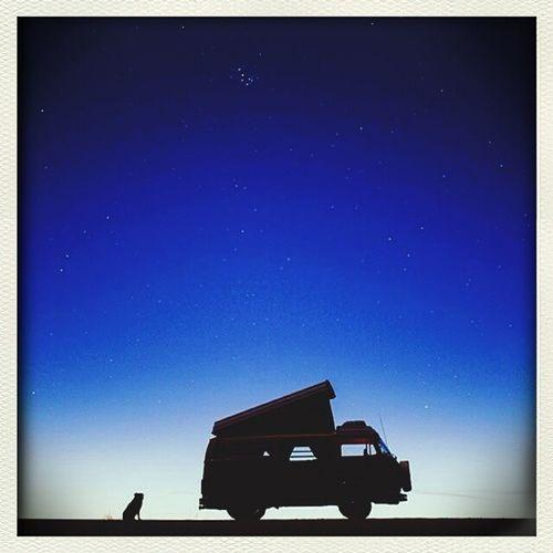 Karavan Night Blue Sky Alone