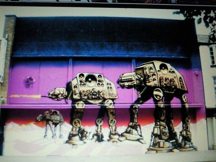 Graffiti Street Art Brighton Aroe 2014 Starwars Street Photography