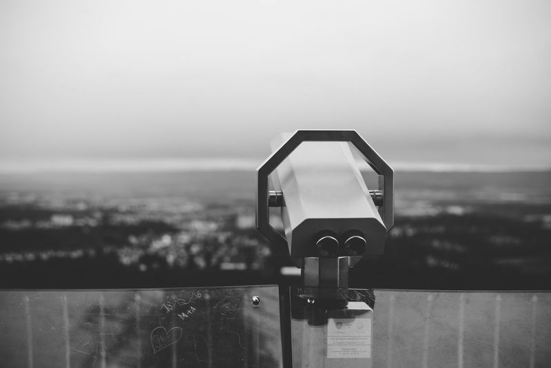 Black & White Black And White Blackandwhite Blackandwhite Photography City Cityscape Close-up Coin-operated Binoculars Dark Day Love Nature No People Optical Instrument Outdoors Romantic Sky Telescope Tranquility